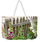 Do-00099 Fence-flowers Weekender Tote Bag