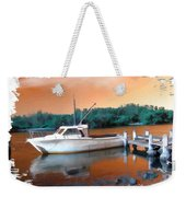 Do-00108 Boat At Sunset Weekender Tote Bag
