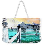 Do-00120 Side Gate In A Farm Weekender Tote Bag
