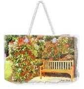 Do-00122 Inviting Bench Weekender Tote Bag