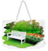 Do-00138 White Bench Weekender Tote Bag