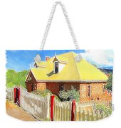 Do-00142 House And Fence Weekender Tote Bag
