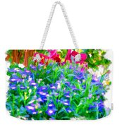 Do-00221 Flowers Weekender Tote Bag