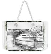 Do-00250 A Boat Weekender Tote Bag