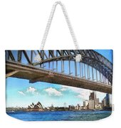 Do-00284 Sydney Harbour Bridge And Opera House Weekender Tote Bag