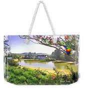 Do-00289 The Clan Lakeside Lake Lodge Weekender Tote Bag