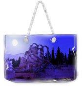 Do-00307 Moon On Anjar Ruins Weekender Tote Bag