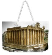 Do-00311 The Temple Of Bacchus Baalbeck Weekender Tote Bag