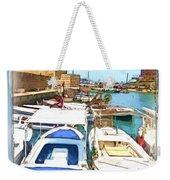 Do-00347 Boats In Byblos Port Weekender Tote Bag