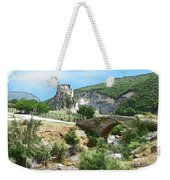 Do-00402 Mussaylaha Fort At Nahr El-jawz Weekender Tote Bag