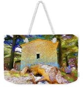 Do-00435 Building Surrounded By Cedars Weekender Tote Bag