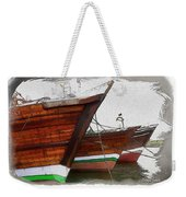 Do-00476 Abra Dhow Boats Weekender Tote Bag