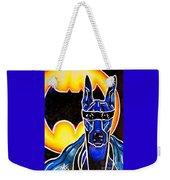 Dog Superhero Bat Weekender Tote Bag