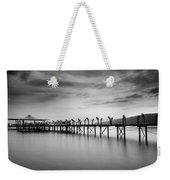 Dock At Autumn Weekender Tote Bag