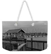 Dock At Mandarin Park Black And White Weekender Tote Bag