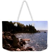 dock at Mount Hope Farm Bristol Rhode Island Weekender Tote Bag