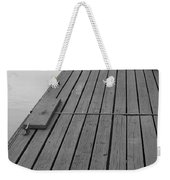 Dock In Black And White Weekender Tote Bag
