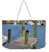 Dock In The Keys Weekender Tote Bag