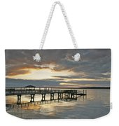 Dock Reflections Weekender Tote Bag