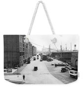 Dock Scene In New York City Weekender Tote Bag
