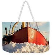 Docked At The Snowfront Weekender Tote Bag