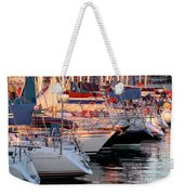 Docked Yatchs Weekender Tote Bag by Carlos Caetano