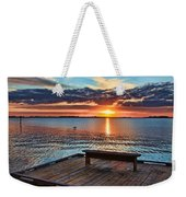 Dockside Sunset By H H Photography Of Florida Weekender Tote Bag