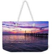Dockside Sunset Weekender Tote Bag