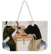 Doctor Taking Pulse Weekender Tote Bag