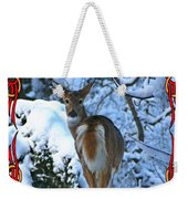 Doe In The Snow Weekender Tote Bag