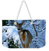 Doe In The Snow In Spokane 2 Weekender Tote Bag