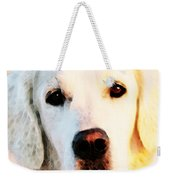 Dog Art - Golden Moments Weekender Tote Bag