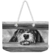 Dog At Gate Weekender Tote Bag