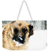 Dog Blizzard - German Shepherd Weekender Tote Bag