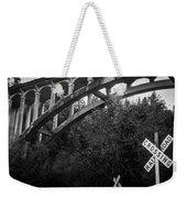 Dog Creek Bridge Railroad  Crossing Weekender Tote Bag