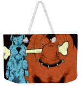 Dog Fight Stand Off Weekender Tote Bag