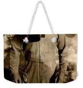 Dog Fights At Giant Heights Weekender Tote Bag