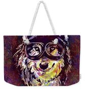 Dog Funny Cheeky Cap Animal Wild  Weekender Tote Bag