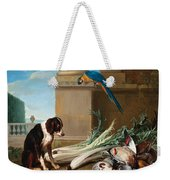 Dog Guarding A Hunting Trophy Weekender Tote Bag