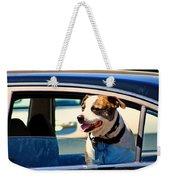 Dog In Car Weekender Tote Bag