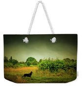 Dog In Chesire England Landscape Weekender Tote Bag