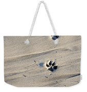 Dog Tracks In The Sand At Carmel Beach Weekender Tote Bag