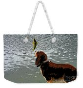 Dog Vs Perch 4 Weekender Tote Bag