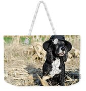 Dog With A Hat Weekender Tote Bag