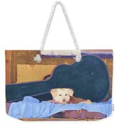 Doggy In The Guitar Case Weekender Tote Bag