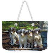 Dogs. Let Us Out #2 Weekender Tote Bag