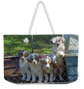 Dogs. Let Us Out #3 Weekender Tote Bag