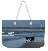 Dogs On The Beach Weekender Tote Bag