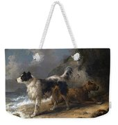 Dogs On The Coast Weekender Tote Bag