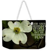 Dogwood Bloom / Flower Weekender Tote Bag